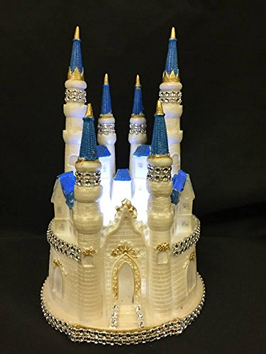 Fairytale Dream Wedding Castle Centerpiece with Lights and Bling Castle Centerpiece