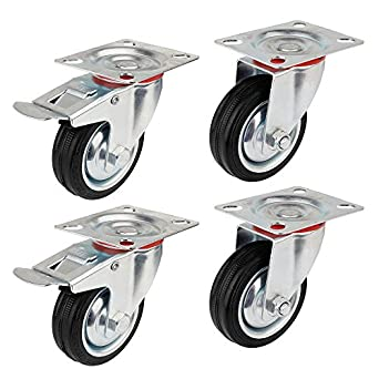 Ruedas de Transporte de transporte Ruedas cargas pesadas rollos de muebles (2 x Ø 100mm