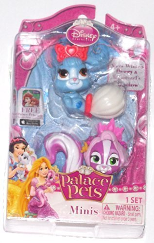 Disney Princess, Palace Pets, Mini Pets, Snow Weiß's Berry and Rapunzel's Meadow, 2-Pack by Blip Toys