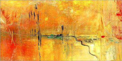 Posterlounge Leinwandbild 80 x 40 cm    Liebe Mich am Morgen von Niksic Katarina - fertiges Wandbild, Bild auf Keilrahmen, Fertigbild auf echter Leinwand, Leinwanddruck b62496
