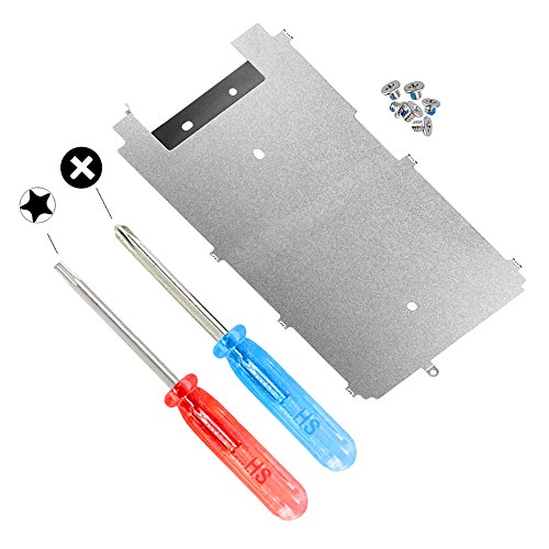 MMOBIEL LCD Metal Back Plate for iPhone 6S with Heat Shield Incl Pre-Installed Homebutton Extend Connection Flex Part incl 6 x Screws and 2 x Screwdrivers