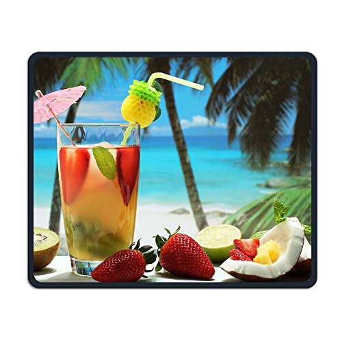 (Mouse Pad Fruity Cocktail Photography Art Rectangle Rubber Mousepad Length 8.66 Width 7.09 inch Gaming Mouse Pad with Black Lock)