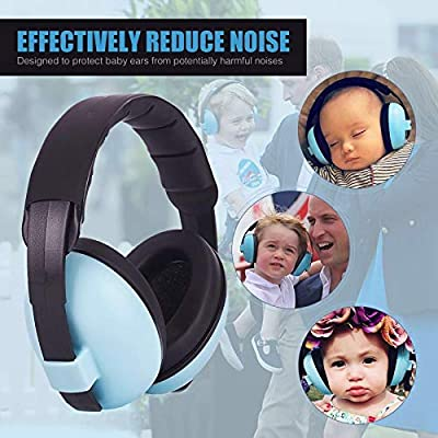 Baby Ear Protection Noise Cancelling Headphones for Babies 3 Months to 3 Years, Baby Ear Muffs for Fireworks, Airplane, Concerts, Travel, 1 Gift Bag and 1 Pairs Ear Plugs Included