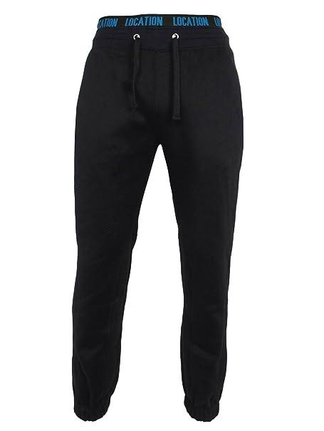 Location - Pantalones de chándal dobladillo Hombres Fleece Cuffed ...