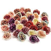 Flower heads in bulk wholesale for Crafts Carnation Silk...