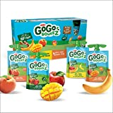 Go Go Squeez Fruit Sauce, Variety Pack (Apple/Apple Peach/Apple Mango/Apple Banana), 1,440g per Unit (16 X 90g per Pouch)