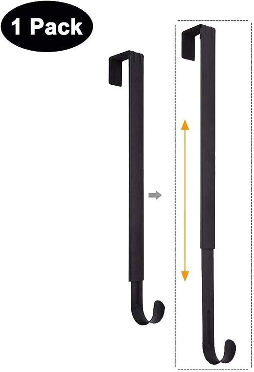 Wreath Hanger Adjustable Over The Door Holder Hook For Christmas Nickel Home