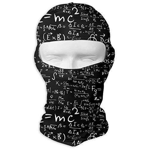UV Protection Face Mask for Cycling Outdoor Sports Full Face Masks Math Equations Balaclava Hood Skullies White ()