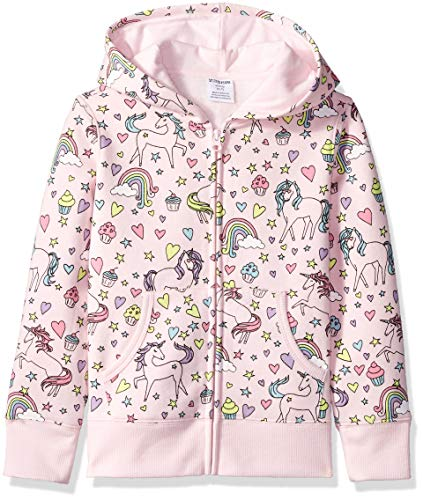 - Amazon Brand - Spotted Zebra Toddler Fleece Zip-Up Hoodies, Unicorn, 4T
