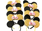 Gold Pink Minnie Mouse Ears - Gold Mickey Mouse Ears Disney Ears Pink Minnie Ears