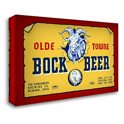 Olde Towne Bock Beer 40x28 Gallery Wrapped Stretched Canvas Art by Vintage Booze Labels
