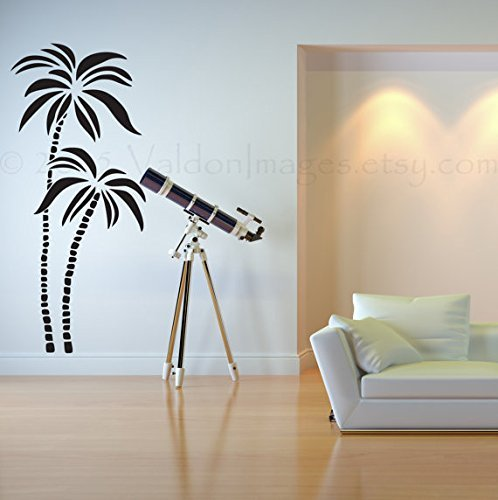Palm trees wall decal, island wall decal, bedroom wall decal, living room wall decal, summer wall decal, beach wall decal, tree wall decal
