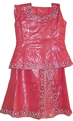 Apparelsonline Girls Shimmer Net Wedding Party Wear Lehanga Choli skirt Blouse (20)