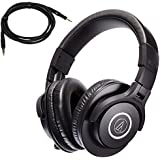 Audio-Technica ATH-M40x Professional Studio Monitor Headphones bundled with HP-SC Replacement Cable