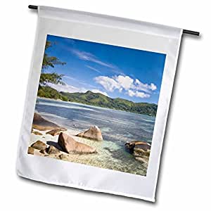 Danita Delimont - Seychelles - Seychelles, Mahe Island, Anse a la Mouche-AF39 WBI0114 - Walter Bibikow - 18 x 27 inch Garden Flag (fl_74977_2)