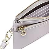 ZORESS Women Genuine Leather Wristlets Bag, Clutch