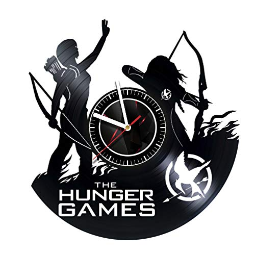 THE HUNGERS GAMES - Wall Clock Made of Vinyl Record - Handmade Original Design - Great Gifts idea for Birthday, Wedding, Anniversary, Women, Men, Friends, Girlfriend Boyfriend and Teens for $<!--$32.75-->