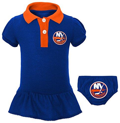 Outerstuff NHL New York Islanders Newborn & Infant Little Prep Polo & Diaper Cover Set, 6-9 Months, Royal ()