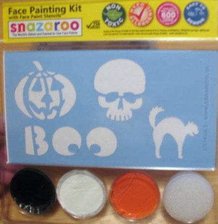 Ruby Red Paints Halloween Face Painting Stencil Kits - Ghoul & Witches (3 Colors)