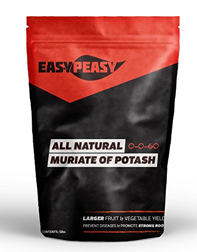All-Natural Muriate of Potash- Easy Peasy 0-0-60 Potassium (10LB BAG) by Easy Peasy All-Natural