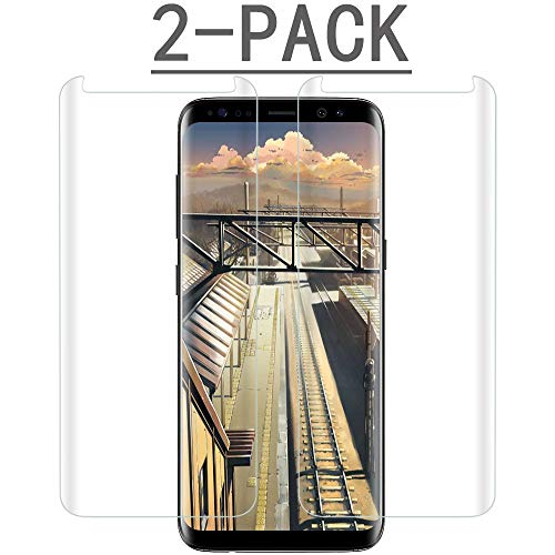 [2PACK] Glass S8 Screen Protector Compatible with Samsung Galaxy S8 [Case Friendly][Anti-Scratch] Tempered Glass Screen Protector