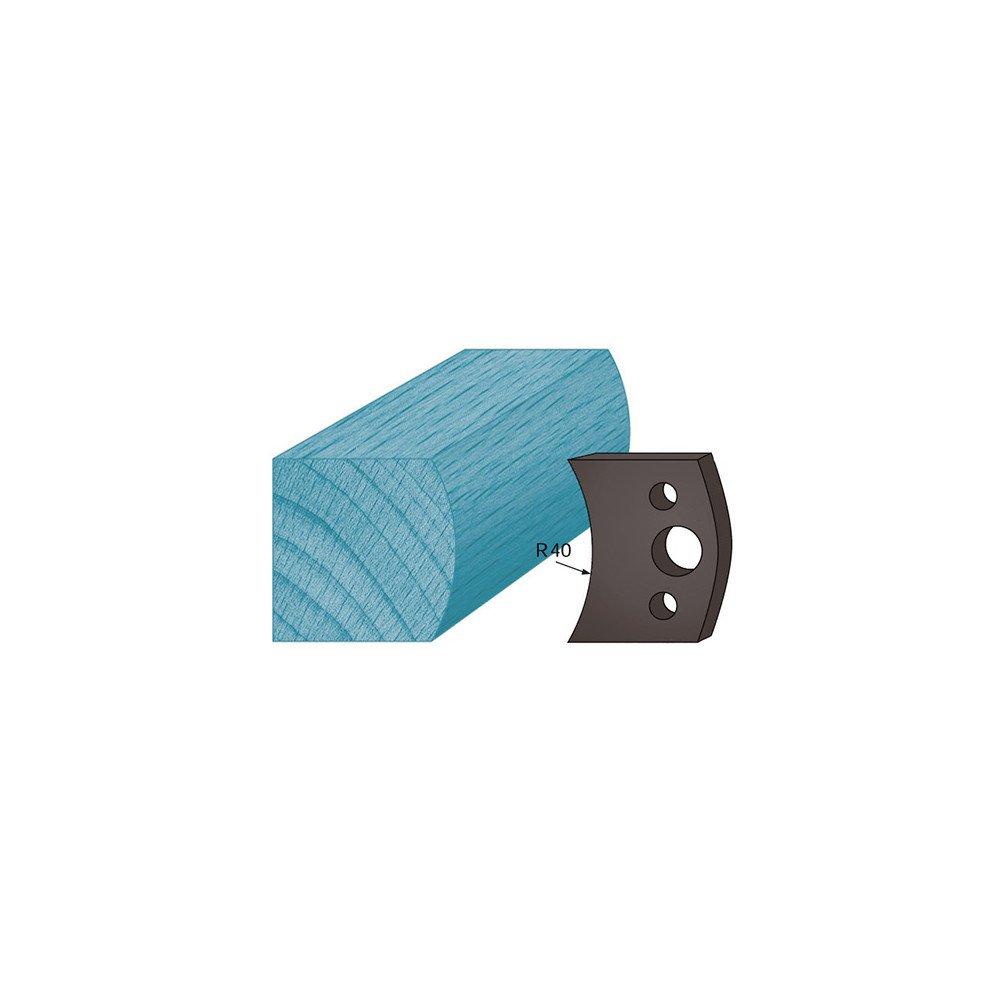 Diamwood Platinum - Jeu de 2 contre-fers profilé s Ht. 38 x 4 mm main courante A08 pour porte-outils de toupie - Diamwood Platinum