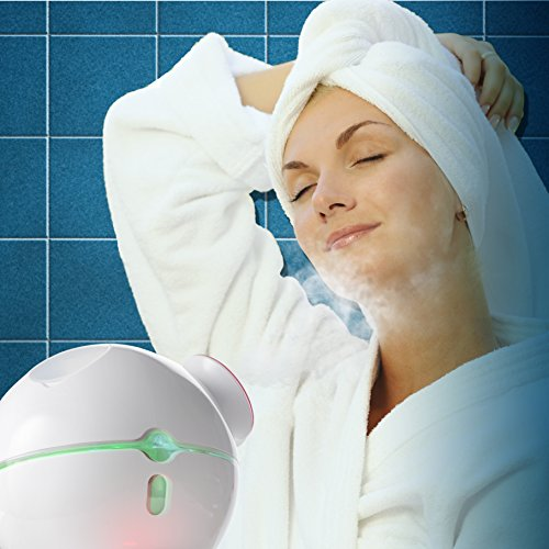 Belmint Facial Steamer with Hot and Cold Steam for Shrinking Pores - Spa Grade Professional Face Steamers Unclogs Pores, Blackheads, Relieve Acne, Sunburn, Reduce Wrinkles For A Healthy Looking Skin