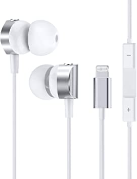 Amazon Com Lightning Earbuds For Iphone Fapo In Ear Earphones With Microphone And Controller Mfi Certified Wired Noise Isolation Headphones For Iphone 11 11 Pro 11 Pro Max Xs Xs Max Xr X 8 8p 7 7p 6 6s Home Audio Theater