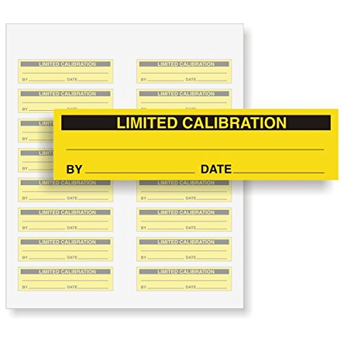 LIMITED CALIBRATION, Write-On Vinyl Label, Removable, 160 Labels / Pack, 2'' x 0.5'' by QCLabels