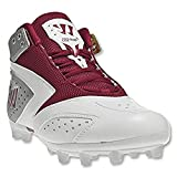 Warrior Lacrosse Men's WMSSM2RD Lacrosse Cleat,White/Red,11 M US