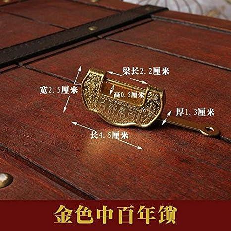 YZL/Vintage Golden siglo candado Box. Cruz antiguo latón lock. Vintage caja de regalo cierre: Amazon.es: Bebé
