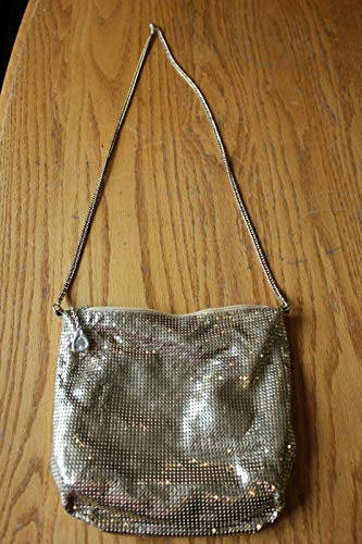 (Whiting & Davis Vintage Brass Metal mesh purse Evening bag Gold Saks Fifth Ave)