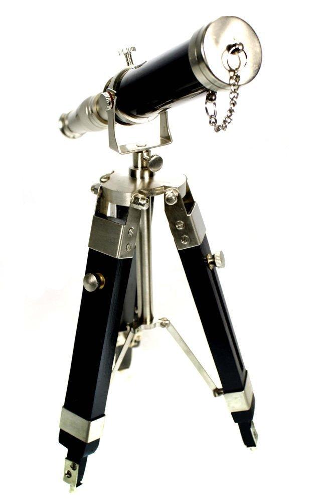 Silver Desk Nautical Decor THORINSTRUMENTS KG479 Desktop Telescope with Tripod