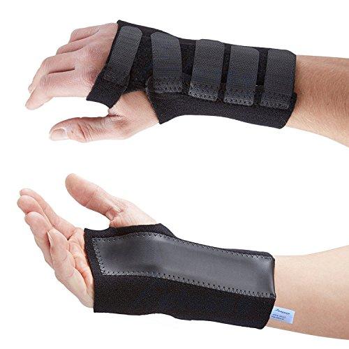 Actesso Fortgeschritten Handgelenkbandage Handgelenkschiene für Karpaltunnelsyndrom , Zerrungen und Arthritis. Schwarz (Mittelgroß, Rechts)