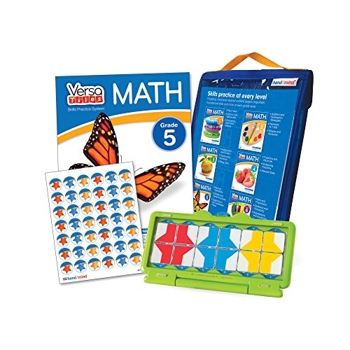 Math Games For Kids By VersaTiles (Ages 10+) | Learning Essential Math Skills At Home (Self Guided Puzzle Workbook & Self Checking Answer Case) | Great Gift For Girls & ()