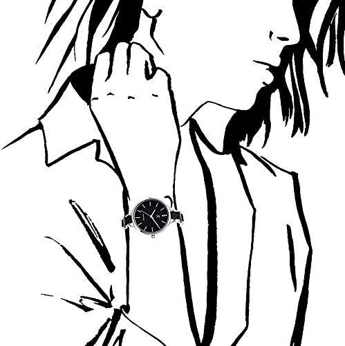 SC Crystal - Orologio da donna, interamente in metallo rodiato, colore nero, dimensioni regolabile.