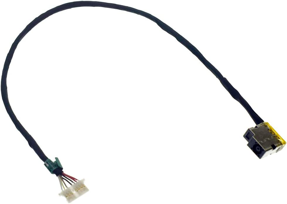 "DREZUR DC_in Power Jack with Cable for HP Envy 17.3"" 17-N M7-N M7-N101DX M7-N103DX M7-N109DX M7-N110dx 17-N175NR 17-N179NR 17-N178CA 17T-N Series Laptop 813797-001 799752-F18 T18 S18"