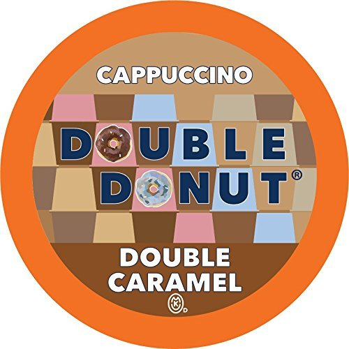Double Donut Double Caramel Cappuccino, Single Serve Cups for Keurig K cup Brewers, 24 Count