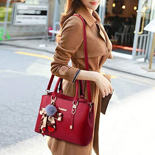 Donna PU Shoulder Hobos A Borse Scarf Tracolla Bags A Da Ornamento Red Borse YongBe Fashion Borse Ladies Messenger Tracolla wEn7pxOx