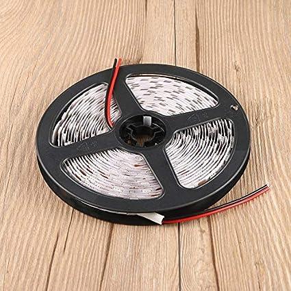 Peanutaor Multi Utilisation 5M 16 Pieds 5050 SMD Non imperm/éable /à leau 300 LED Flexible lumi/ère LED Collant d/écoration DC 12V Cuttable D/écoration