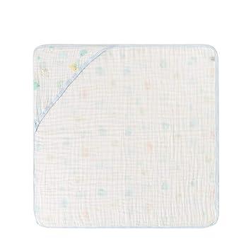 WYQ Toallas de baño Blancas para bebés, Toallas de algodón Suave con Capucha para niños