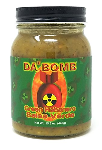 Da Bomb Sauce - Da Bomb Green Habanero Salsa Verde - 15.5 oz