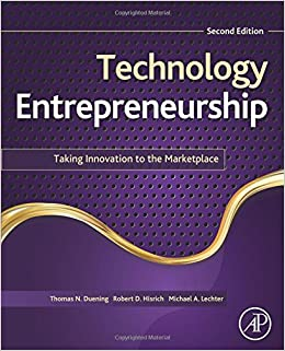 Book Technology Entrepreneurship, Second Edition: Taking Innovation to the Marketplace