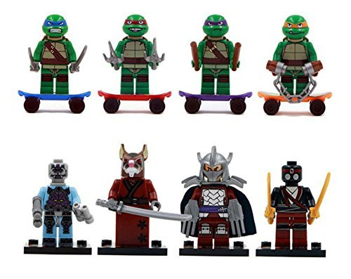 8 Minifigures Teenage Mutant Ninja Turtles Donatello Minifigures Building Toys