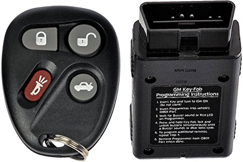 APDTY 112738 Keyless Entry Replacement Remote Key Fob Transmitter w/Self Programming Tool Fits 01-05 Bonneville Grand Am Lesabre Deville 04-05 Classic 01-04 Corvette Olds Alero 01-03 Malibu Aurora