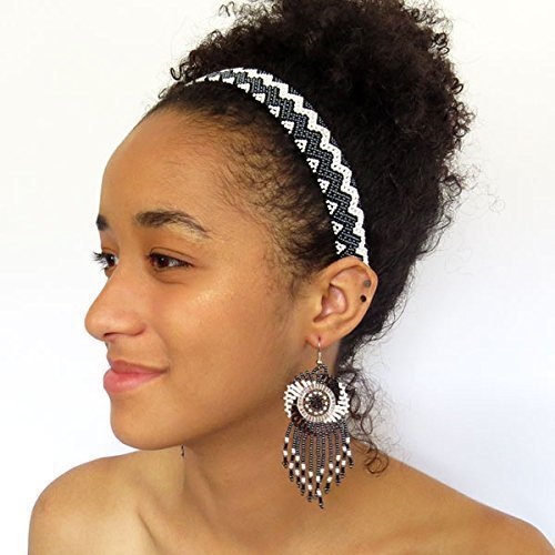 - Cloud Collection African Zulu beaded earrings Dreamcatchers Gift for her small