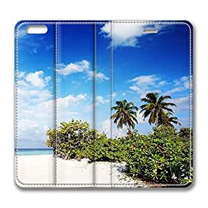 The Maldives Scenery Personalized Design High Quality Guaranteed Leather Iphone 6 Case Blue Sky