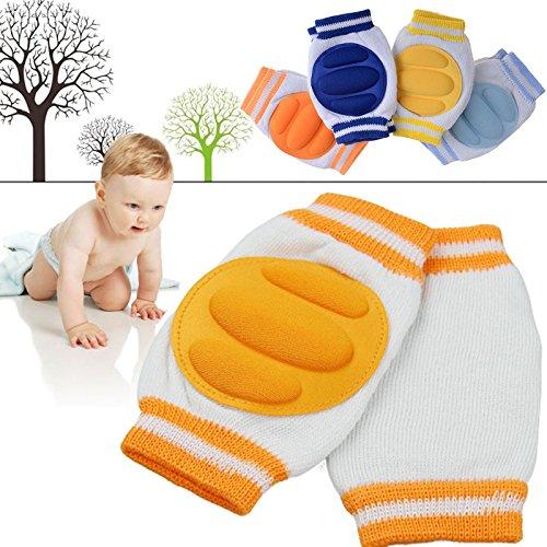Baby Crawling Knee Pads Cotton Elbow Cushion (Orange) - 9
