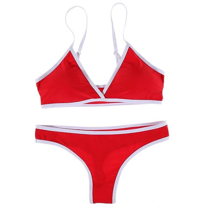 Pinklu Bikini Estilo BrasileñO para Mujer Traje De BañO De Mujer Conjunto De Bikini De Playa Hacer Subir Sujetador Acolchado: Amazon.es: Ropa y accesorios