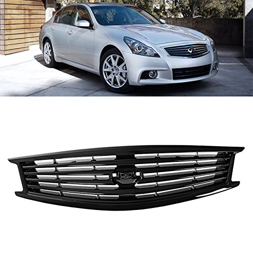 - Black Front Radiator Grille For Infiniti 2011-2012 G25 09-13 G37 2015 Q40 Sedan